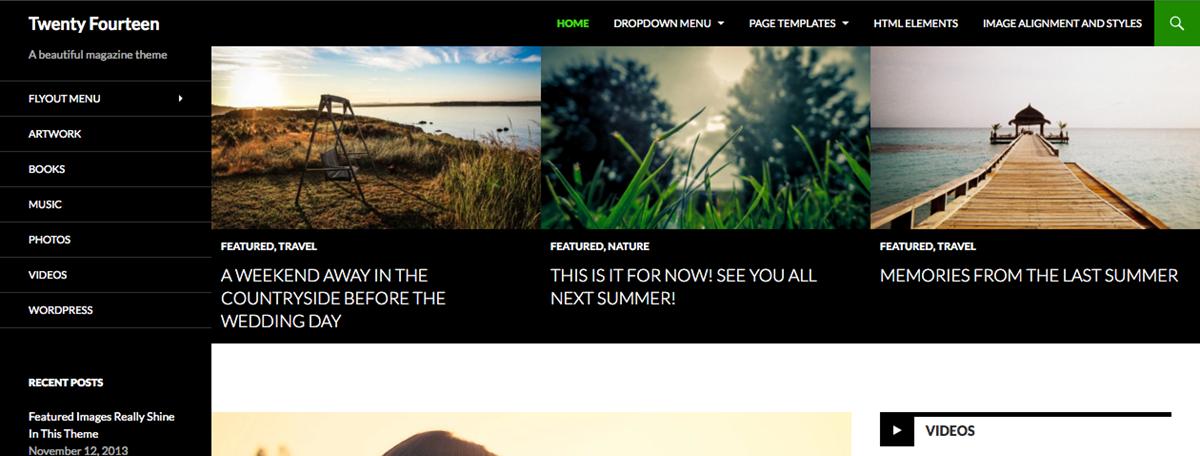 Twenty-fourteen WordPress theme